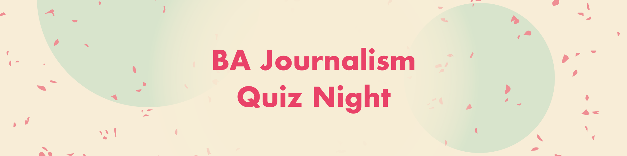 BA Journalism and BA Journalism/History Quiz Night