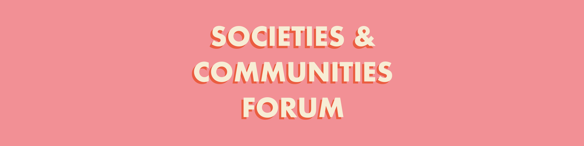 Societies & Communities Forum