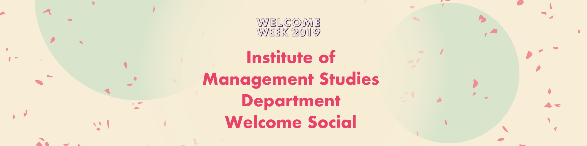 IMS Department Welcome Social