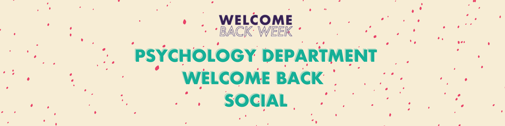 Psychology Department Welcome Back Social