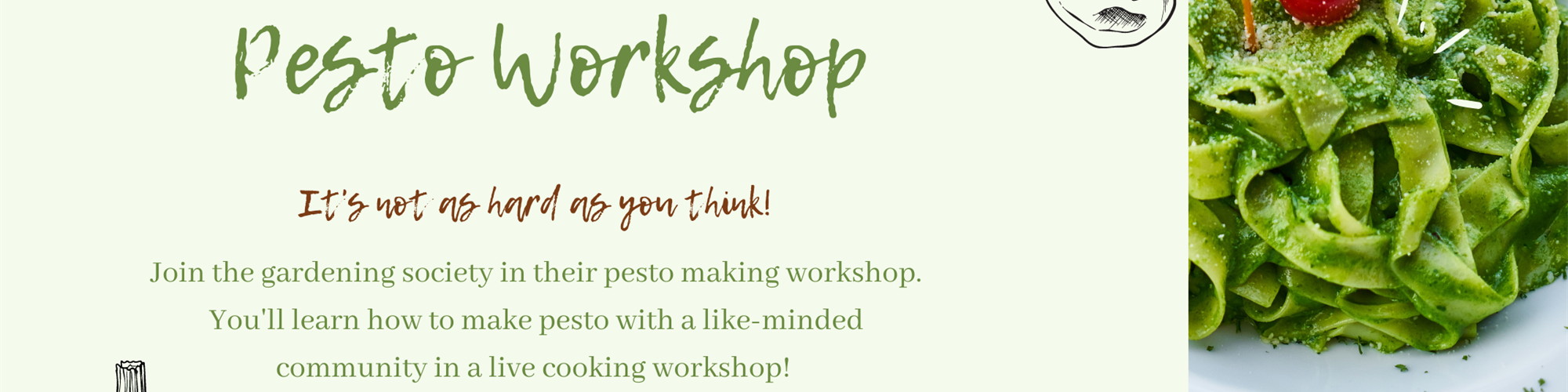 Pesto Making Workshop with the Gardening Society