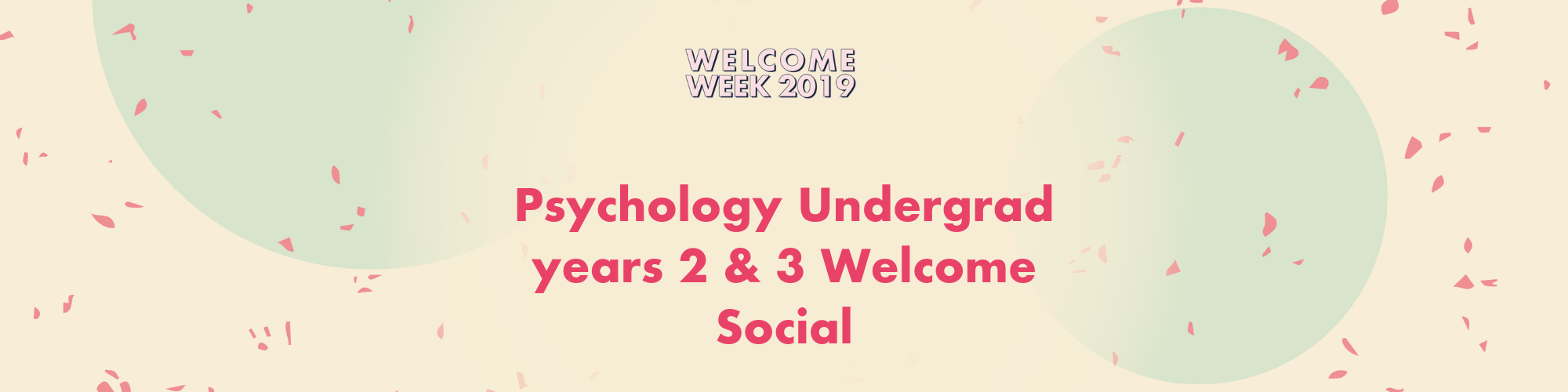 Psychology 2nd and 3rd year Undergrads Welcome Social