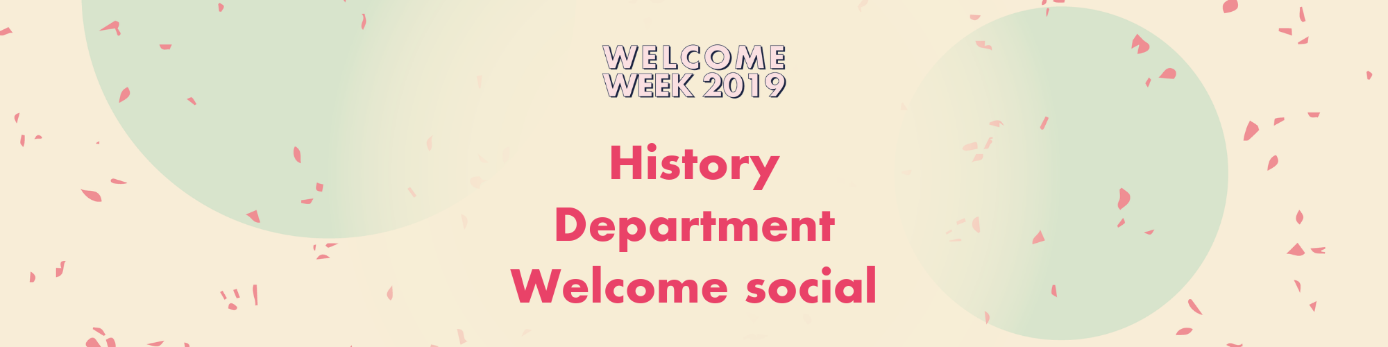 History Department Welcome Social