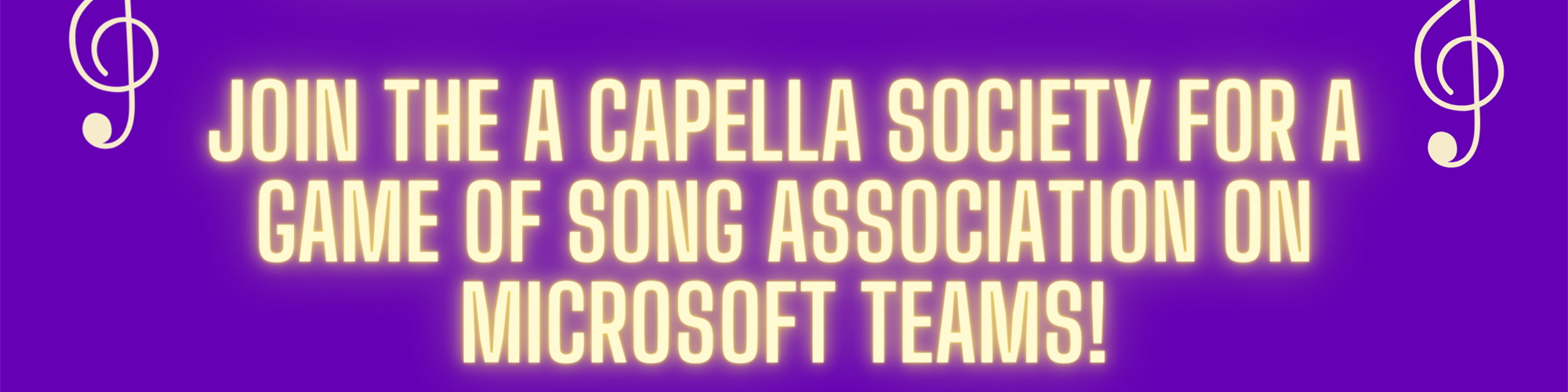 A Capella Society's Song Association Night!