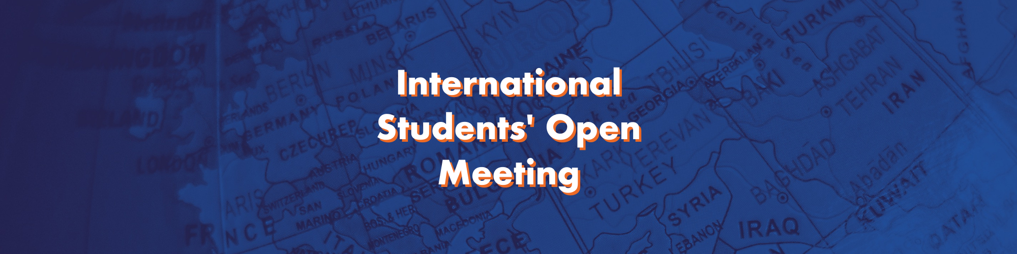 International Students' Open Meeting with the Sabbatical Officers